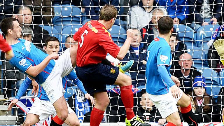 Ciaran Donnelly: Put Albion Rovers ahead in their Scottish Cup tie against Rangers