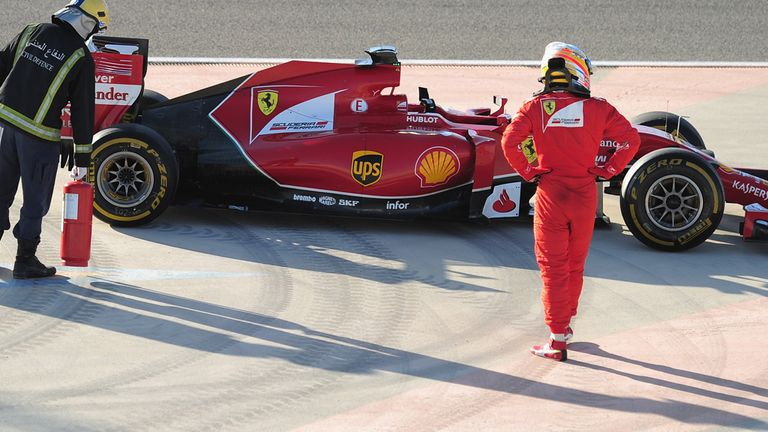 Ferrari were generally reliable during pre-season testing..but not always!