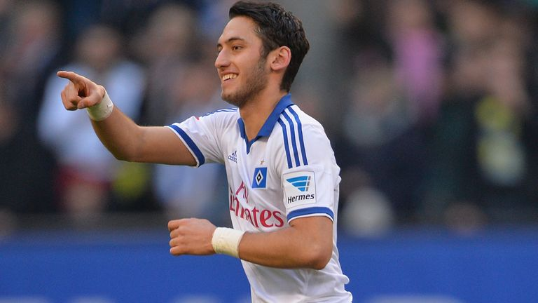 Hakan Calhanoglu levelled for Hamburg from the spot