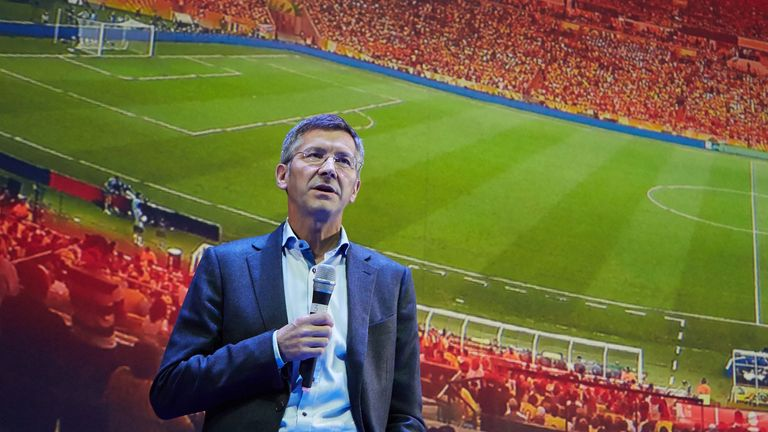 Adidas chairman Herbert Hainer has been elected as Bayern Munich's new president.