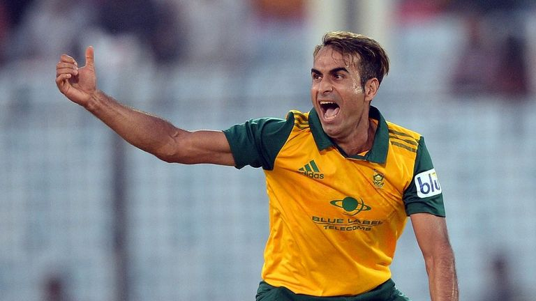 Imran Tahir: took 4-21 from his four-over allocation