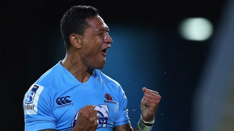 Israel Folau: Took his tally of tries for the season to five from two matches