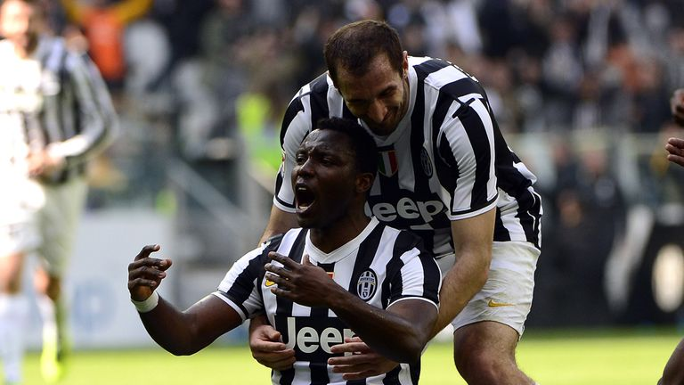 Kwadwo Asamoah: Celebrates the game's only goal