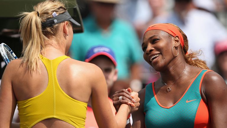 Serena Williams: American sent down nine aces during latest victory over Maria Sharapova
