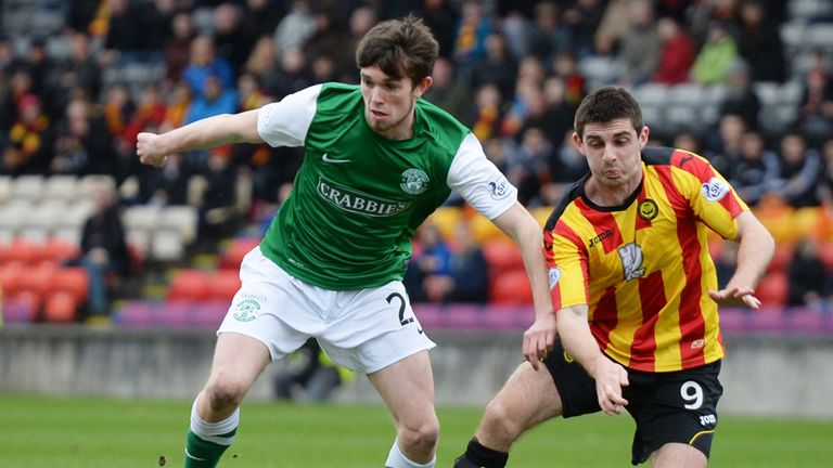 Sam Stanton (left): Midfielder has made 26 appearances for Hibs this season
