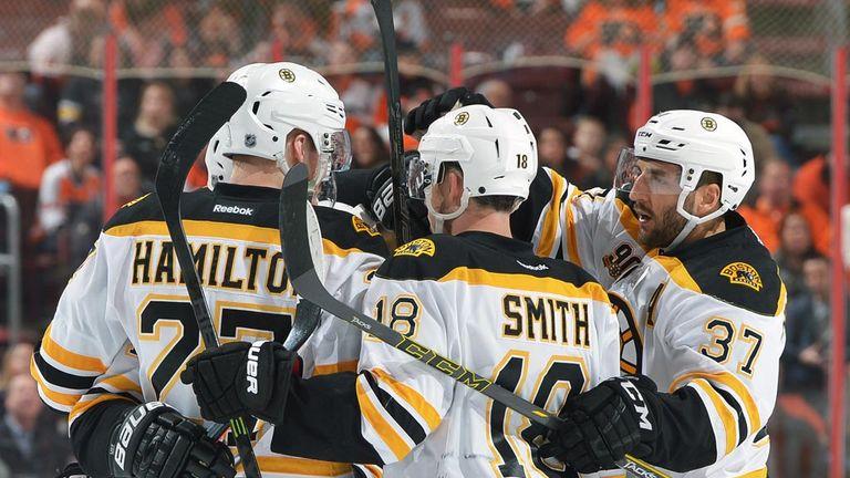 Boston Bruins celebrate