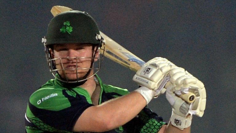 Stirling job: Middlesex batsman smashed a quick-fire 60 as Ireland edged Zimbabwe