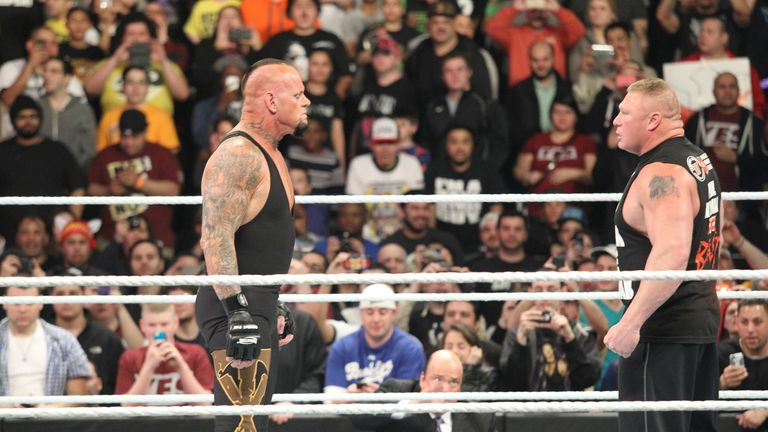 The Undertaker and Brock Lesnar come face-to-face