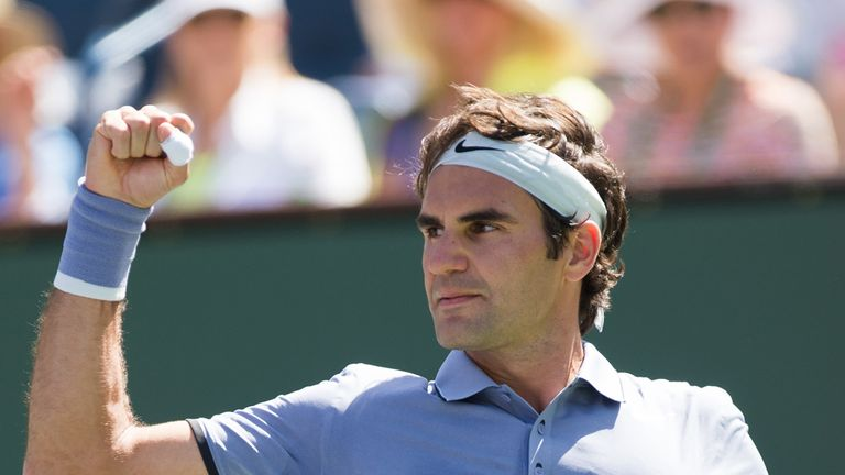 Roger Federer: Up and running in Miami
