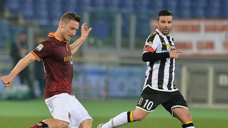 Francesco Totti: Didn't take long to get back on the scoresheet