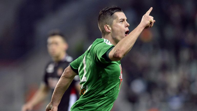 Romain Hamouma: On target for St Etienne against Monaco