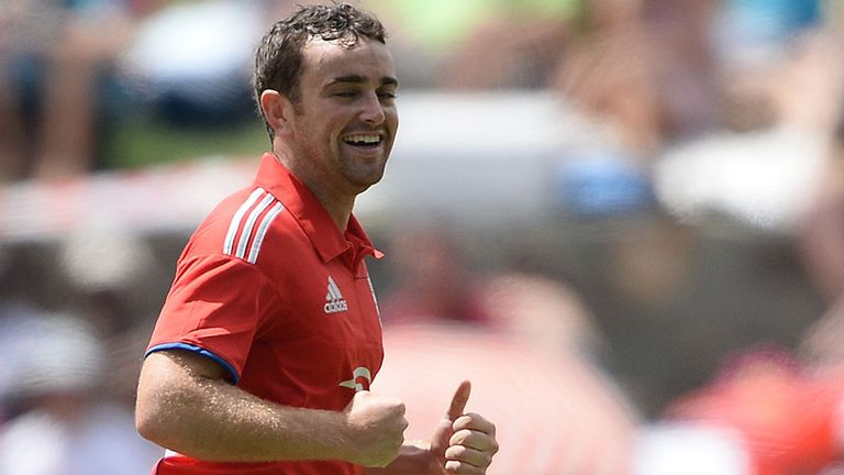 Stephen Parry during his match-winning debut in Antigua on Sunday