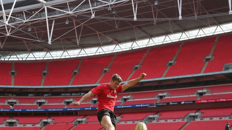 Owen Farrell: The England fly-half returns for Saracens clash against Harlequins at Wembley