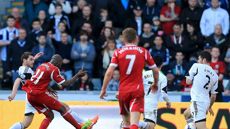 Youssouf Mulumbu: Secures West Brom a vital three points