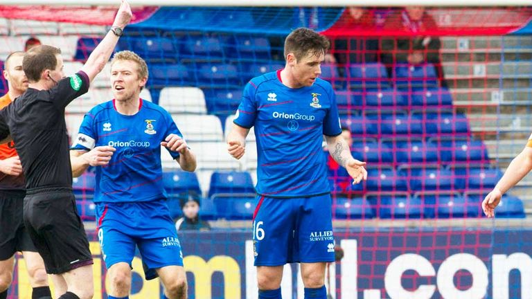 Greg Tansey (r): Is suspended for Inverness Caley's match with Hibernian