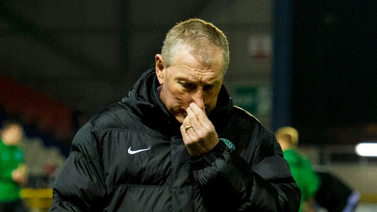 Terry Butcher: Hibernian manager unimpressed with 3-1 defeat at Firhill