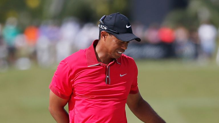 Woods: feels the strain again