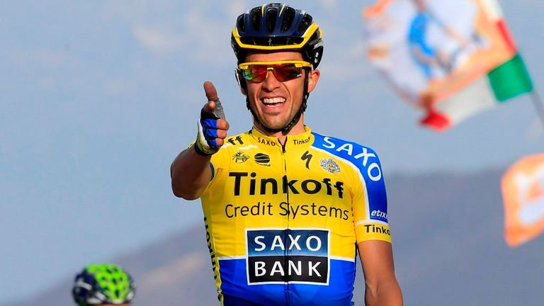 Alberto Contador won stage four