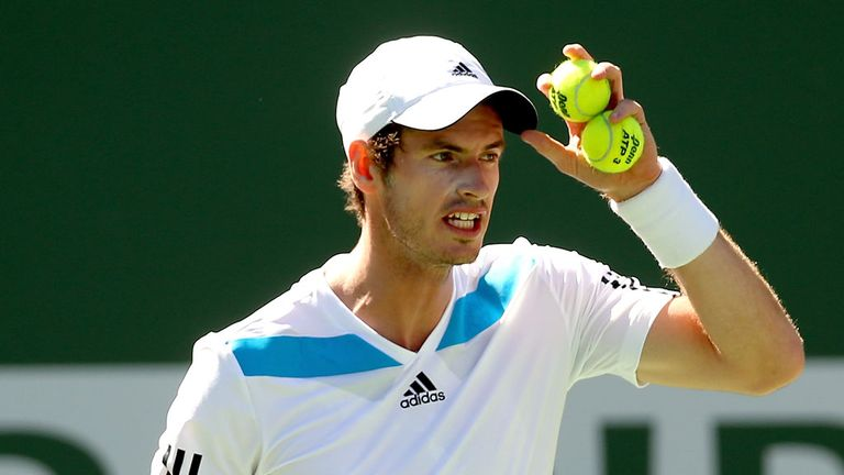 Andy Murray: Forced to battle by rookie in Indian Wells