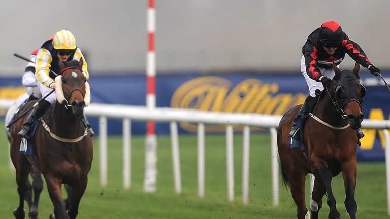 Barkston Ash (left): Curragh hopeful