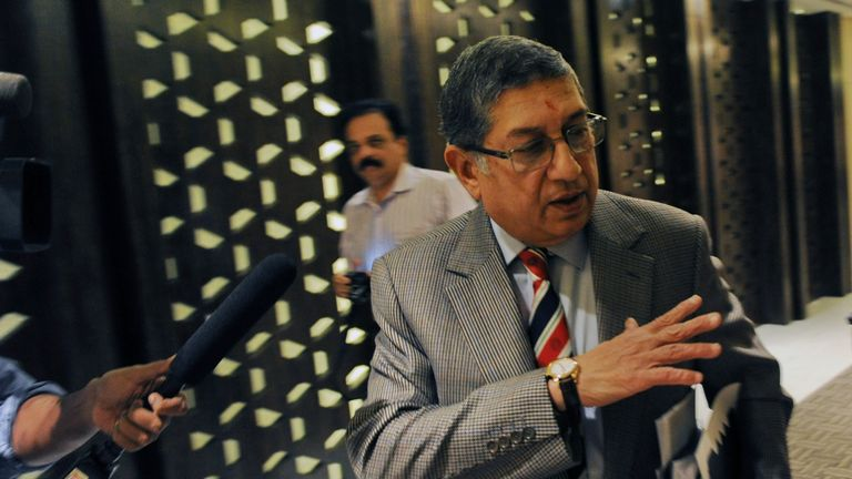 Narayanaswami Srinivasan: Stepped down from role amid corruption claims