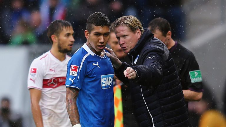 Roberto Firmino (L): Schalke boss Horst Heldt has played down links to the midfielder