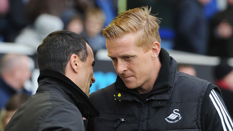 Garry Monk: Saw his side lose to former boss Roberto Martinez
