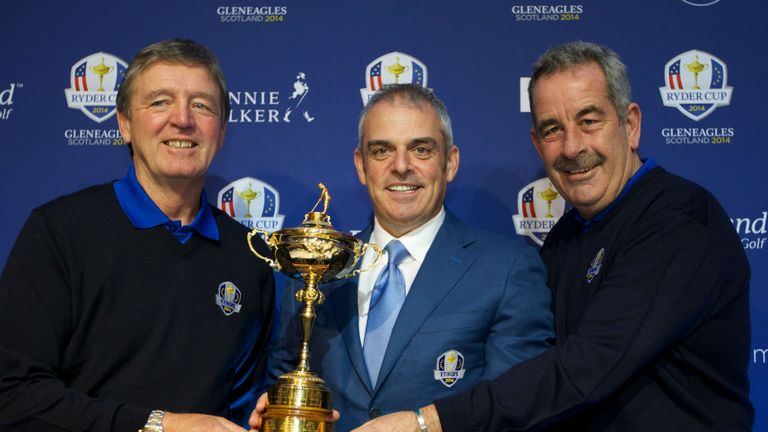 Des Smyth, Paul McGinley and Sam Torrance: Planning for victory at Gleneagles