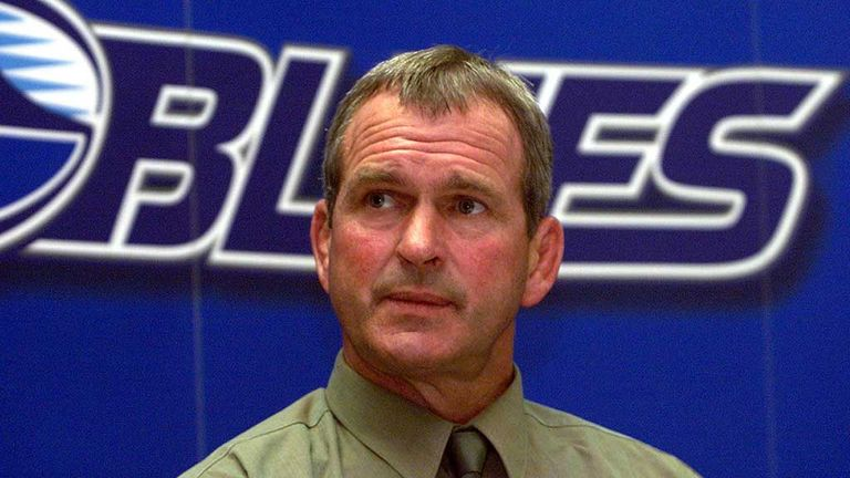 Frank Oliver: Former New Zealand captain pictured during his spell as Blues coach in 2001