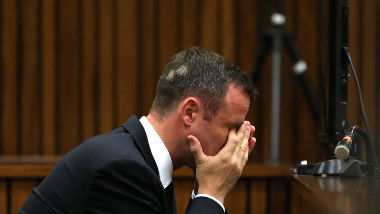 Oscar Pistorius in court on day 13 in Pretoria