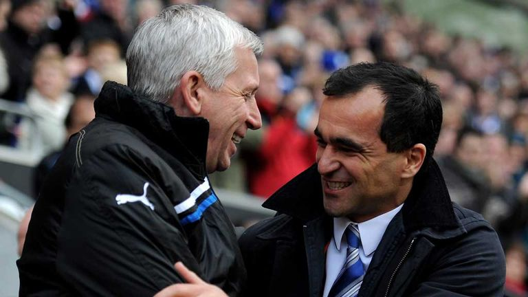Roberto Martinez and Alan Pardew won't be meeting on Tuesday