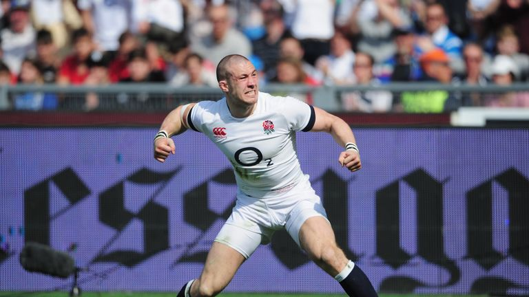 Mike Brown: England full-back celebrates opening try