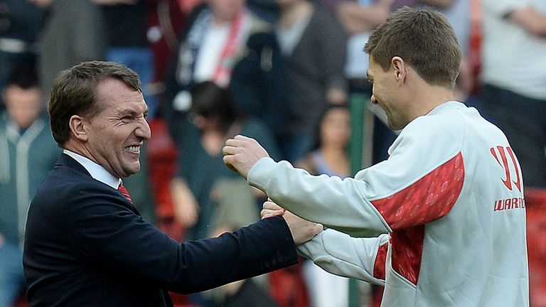 Brendan Rodgers: Delighted with his skipper Steven Gerrard