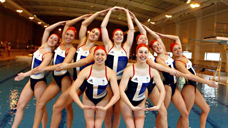 Team GB 2012 synchronised swimming team