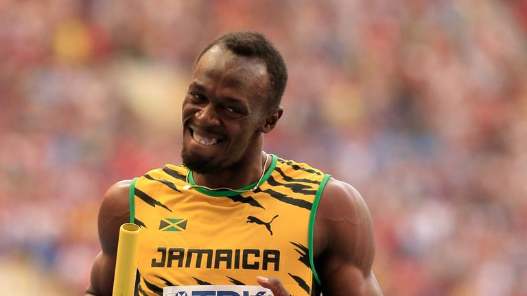 Usain Bolt of Jamaica has arrived in Glasgow to participate in just one event.