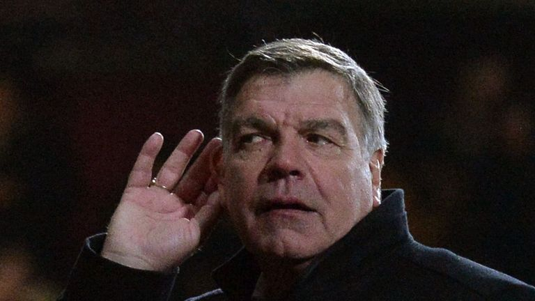 Sam Allardyce: Reacts to boos during win over Hull in March