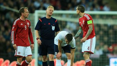 Jack Wilshere: Took a knock against Denmark but suffered no serious damage