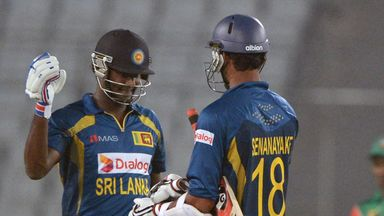 Angelo Mathews: Put on an 82-run stand with Chaturanga de Silva