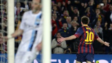 Messi: despite not looking his sharpest the Barcelona forward carved his way through Man City