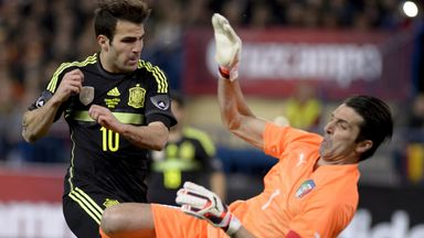 Gianluigi Buffon: Italy keeper in action against Spain on Wednesday