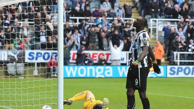 Papiss Cisse: The Senegal international bagged a very late winner for Neewcastle
