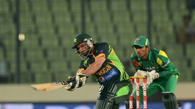 Shahid Afridi slammed an 18-ball half-century in Pakistan's win over Bangladesh