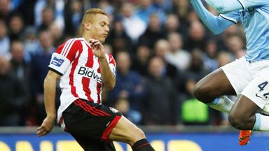 Wes Brown: Sunderland defender is heartened by first-half display at Wembley