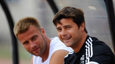 Artur Boruc and Mauricio Pochettino: Saints goalkeeper (left) expects his boss (right) to sign new deal