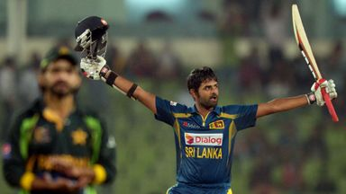 Lahiru Thirimanne: Sri Lanka opener celebrates his fifth ODI hundred