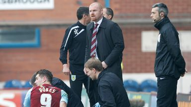 Sam Vokes: Burnley striker receives treatment on the pitch at Turf Moor