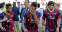 Adriano, Tello and Sergi Roberto: Shock defeat for Barca