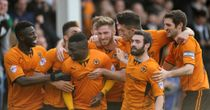 Nouha Dicko: Mobbed after scoring for Wolves