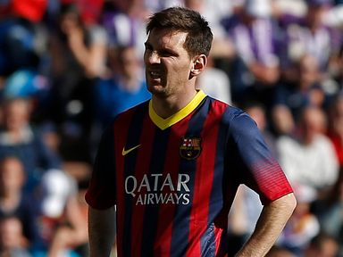 A stunned Lionel Messi as Barcelona crashed to defeat