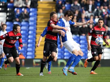 Nikola Zigic shields the ball from Clint Hill